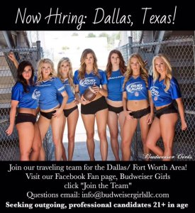 bud girls now hiring tw feb 16