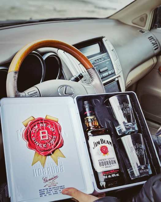 jim beam for driving in your lexus